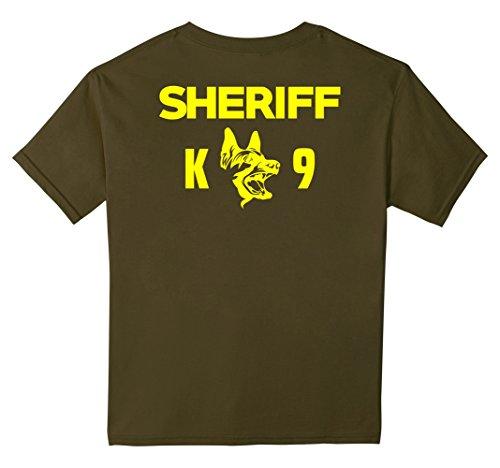 Kids K-9 Sheriff Deputy T-Shirt LEO Off Duty Cops Law Enforcement 10 Olive (Deputy Costume)