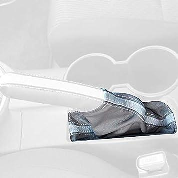 Black Alcantara-Blue Thread RedlineGoods armrest Cover Compatible with Scion tC 2011-15