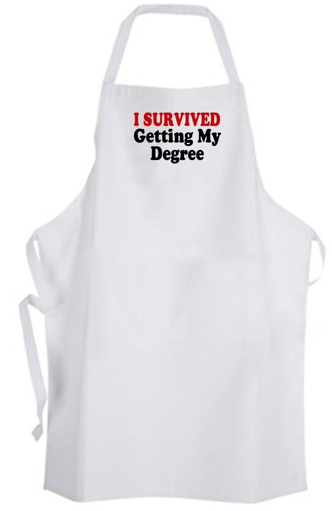 I Survived Getting My Degree – Adult Size Apron – College Student Graduation