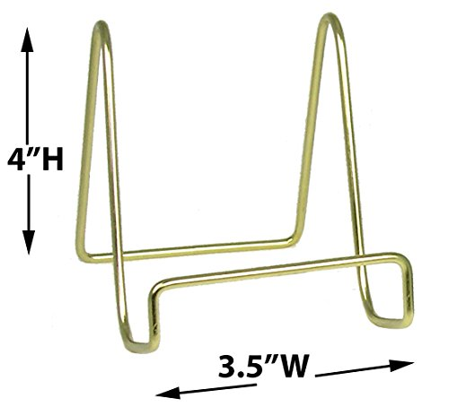 Plate Holders - Brass Metal Inch Set of 3