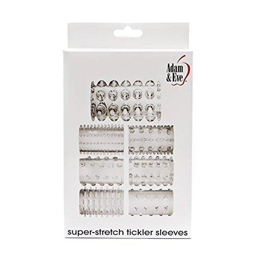 A&e Super Stretch Tickler Sleeves Clear