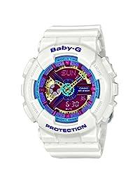 Casio G Shock Women's BA-112-7ACR Baby-G Analog-Digital Display Quartz White Watch