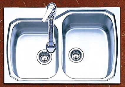 Ordinaire Oliveri 834 0 Stainless Steel Sink, Double Large/Small Basin, Large Basin