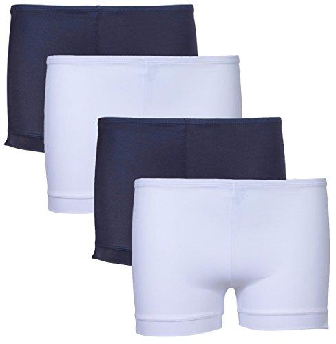 (1000% Cute Girls 4 Pack Playground Shorts, Navy, Navy, White, White, Small (6/6X0')