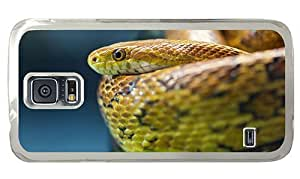 Hipster for sale Samsung Galaxy S5 Case snake PC Transparent for Samsung S5