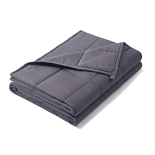 Weighted Idea Cooling Weighted Blanket 15 lbs Adults | 60''x80'' | Cotton | Grey