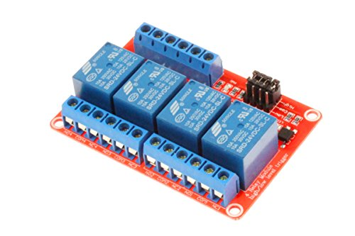 - NOYITO 4-Channel Relay Module High Low Level Trigger with Optocoupler Isolation Load DC 30V / AC 250V 10A for PLC Automation Equipment Control, Industrial Control, Arduino (4-Channel 24V)