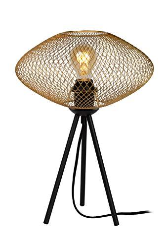 Lucide MESH – Tafellamp – Ø 30 cm – 1xE27 – Mat Goud/Messing