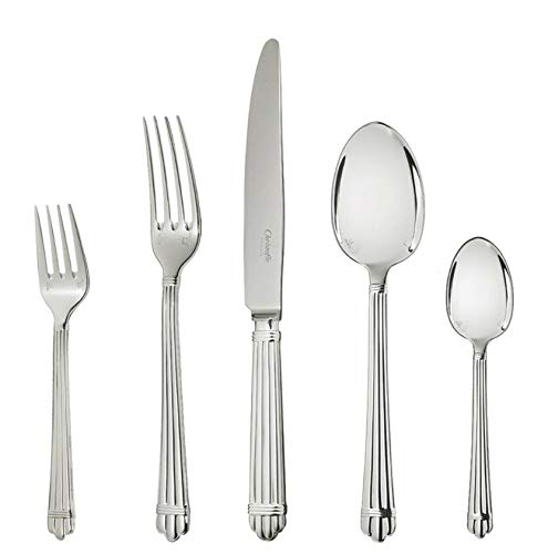 Aria by Christofle France Silver Plated Flatware Setting 5-pc Dinner New