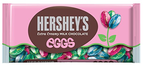 HERSHEY'S EGGS Chocolates, Extra Creamy Solid Milk Chocolate Candy Individually Wrapped in Packaging, 10 Ounce Bag (Pack of 4)