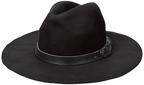 Michael Stars Women's Oh My Darling Floppy Wool Fedora with Wide Brim, Black, One Size