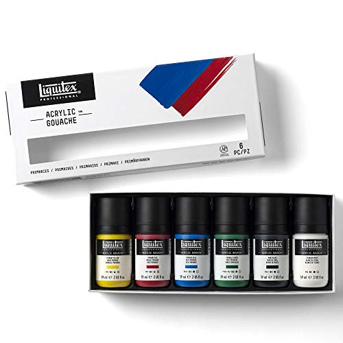 Liquitex 3699323 Professional Acrylic Gouache Paint Set, Primaries 2-oz
