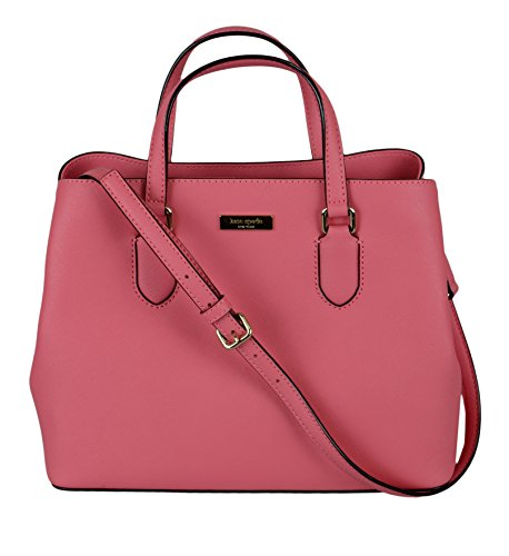 (Kate Spade New York Laurel Way Evangelie Saffiano Leather Shoulder Bag Satchel,(Warm Guava) )
