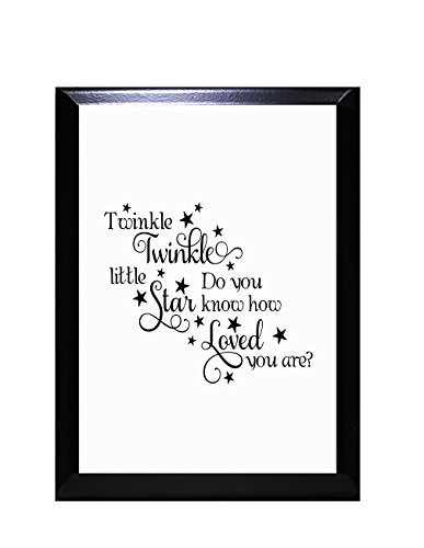 Twinkle Twinkle Little Star Do You Know How Loved You are? I Wall Plaque Sign 9 in x 12 - Inch 12 9 Plaque Inch X