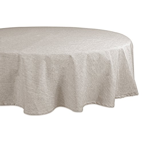 """DII 70"""" Round Cotton Tablecloth, Chambray Natural - Perfect for Weddings, Brunch, Catering Events, Dinner Parties, Buffets or Everyday Use from DII"""