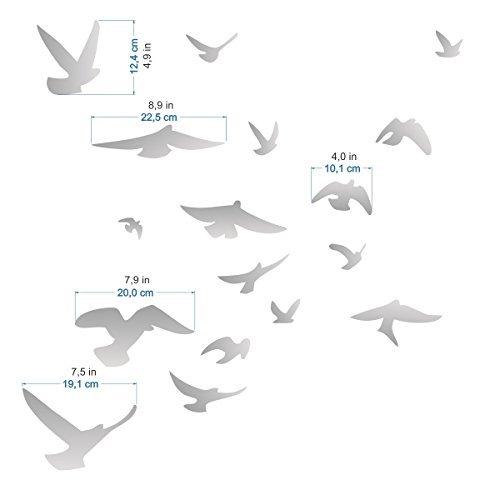 Anti-Collision Stickers to Prevent Bird Strikes on Window Glass - Set of 17 Silhouettes - Colour: (Bird Silhouette)