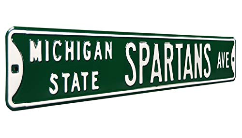 Michigan State Spartans Ave, Heavy Duty, Metal Street Sign Wall Decor (Renewed)