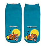 DealinM  Halloween Socks,Casual Work Business Socks 3D Halloween Pumpkin Printing Medium Sports Socks