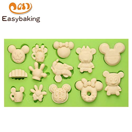 (Cookie Cutter|Cake Molds|Themed Fondantilicone Mold DIY Woman Mickey Mouse and Monkey Cake Mouldilicon Baking Decorations|By)