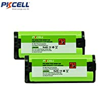 2 Pack Cordless Phone Rechargeable Battery Compatible with PANASONIC HHR-P105