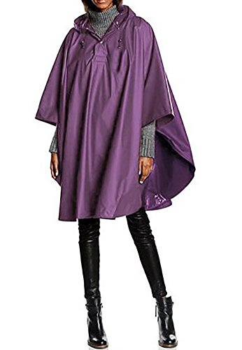 Charles River Apparel Unisex Adult Pacific Poncho One Size New Purple
