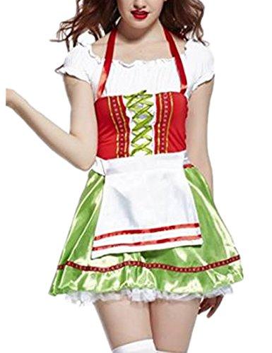Ninimour Womens Hot County Beer Girl Oktoberfest Darling Costume Fancy Party Dress Halloween (2)