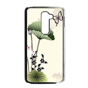 Classic ink painting elegant lotus Phone Case for LG G2