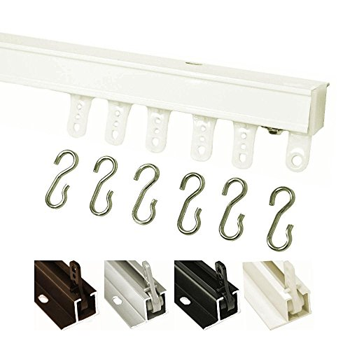 Kirsch 94004 Hand Draw Ceiling Mount Curtain Track Set (4'-White)