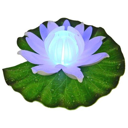 Beeka Color Changing LED Floating Lily Flower Light for Pond