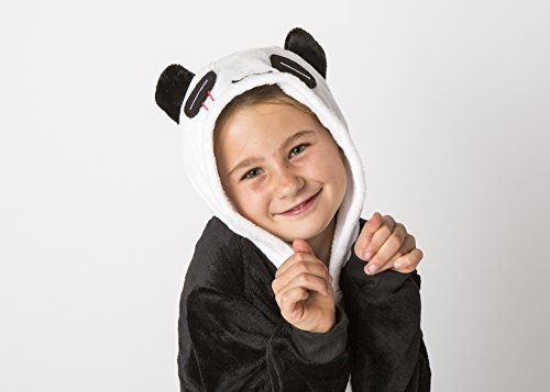 Unisex Pajamas Costume Panda Onesie for Kids (Large) (Girls Panda Costume)