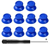Mekela 5 Pairs Thumbsticks with Cross Screwdriver, Replacement Joystick Thumb Stick for PlayStation 4 PS4 Controller Gamepad (Blue)