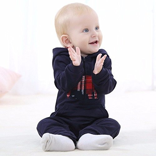 6Month Navy Blue!!Carters Newborn Months Jumpsuit Playsuits Romper Baby Boy Outfit Clothes