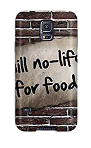 Awesome Design No-life Hard Case Cover For Galaxy S5