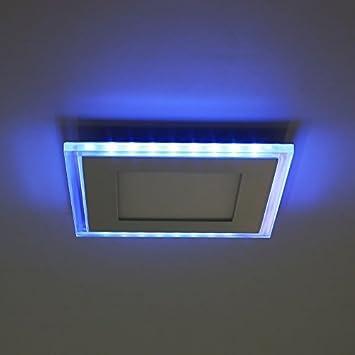 Amzdeal 10W LED Panel Deckenleuchte, 130mm×130mm, neutralweiß+blau ...