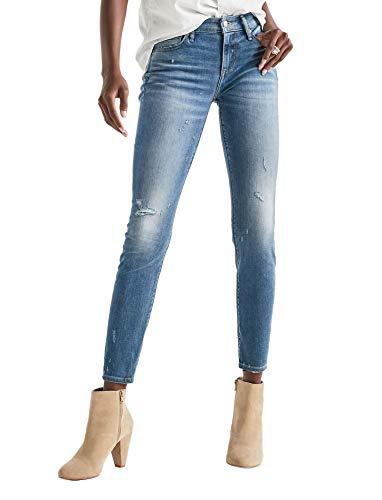 (Lucky Brand Women's Ava Skinny Destroyed Jeans Beechly Blue Wash (29W Regular US: 8))