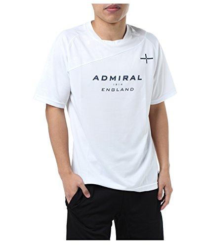 見えるながら吹雪アドミラル サッカーウェア 半袖シャツ 半袖プラクティスシャツ AD540403H03 WH M