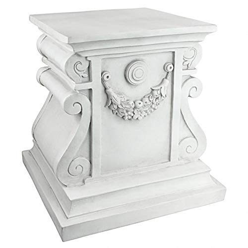 Design Toscano Classic Statuary Garden Plinth Base Riser, Large 15 Inch, Polyresin, Antique Stone from Design Toscano