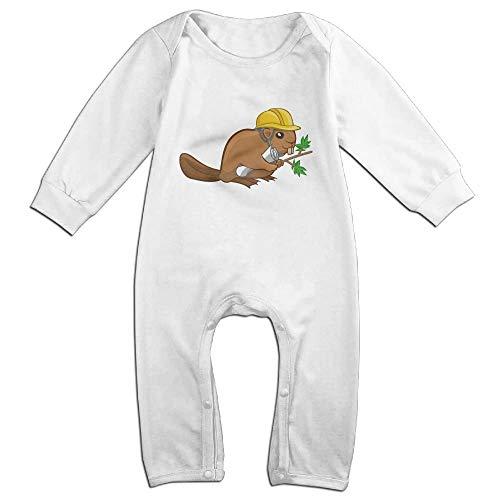TYLER DEAN Toddler Baby Boy Girl Bodysuits Cartoon Beaver Baby Rompers -