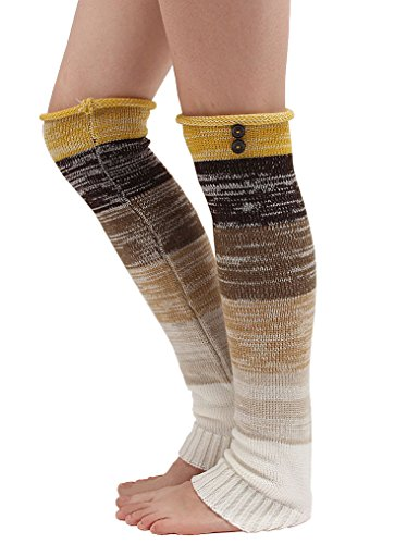 Anlaey Cable Knit Leg Warmers Knitted Crochet Boot Socks for Women for sale