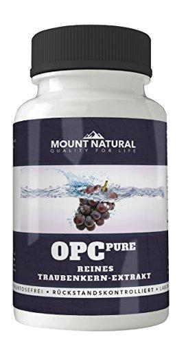 OPC -Traubenkernextrakt, 400mg pro veganer Kapsel - reicht 2 Monate - aus DEUTSCHEN Trauben, hochdosiert an Antioxidantien, ohne Magnesiumstereate