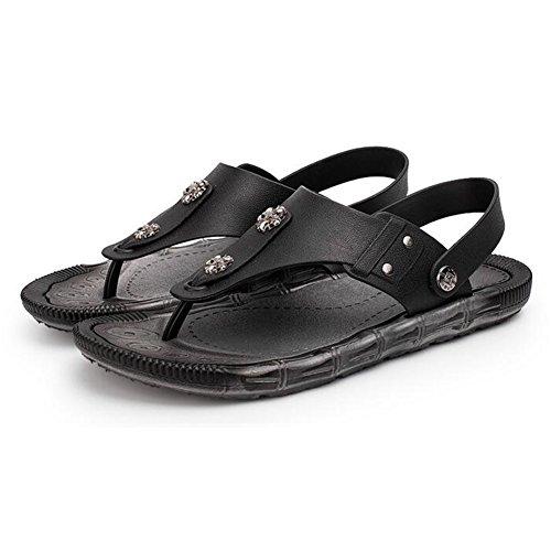 de Playa Chanclas Mr Verano de Sandalias Para Moda de PVC diarias Black Hombres LQ de Uxa0q