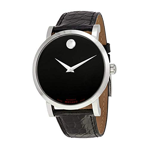 Movado Red Label Automatic Black Dial Mens Watch 0606112