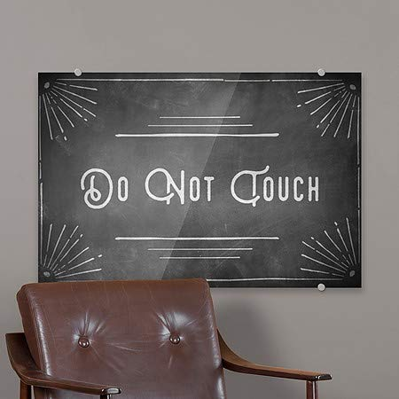 5-Pack Do Not Touch Chalk Corner Premium Acrylic Sign CGSignLab 18x12