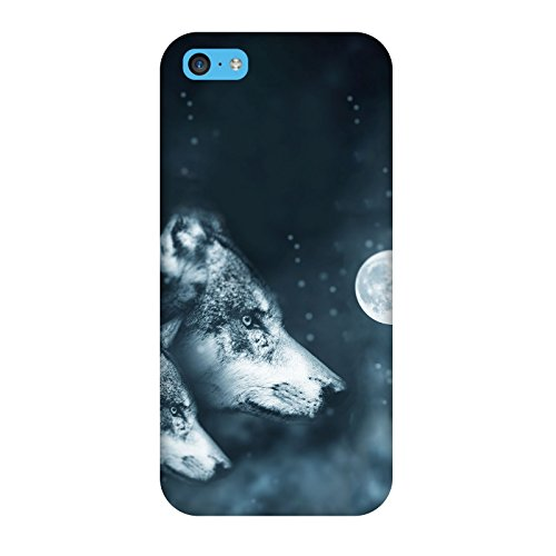 Coque Iphone 5c - Loup Wolf Lune