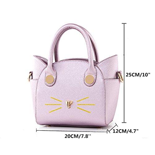 Bags Lui Handle Cat Purple Tote Stylish Sui Womens Purses Cute Top Handbag Shoulder grey Crossbody Satchel 7vZ7rBqWHw