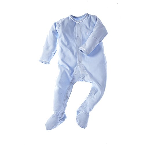 little-pharo-100-extra-long-staple-egyptian-cotton-footed-one-piece-bodysuit-blue-size-3-6-months