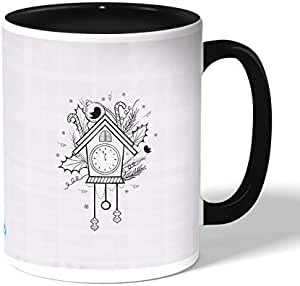 Sparrow House Coffee Mug by Decalac, Black - 19079