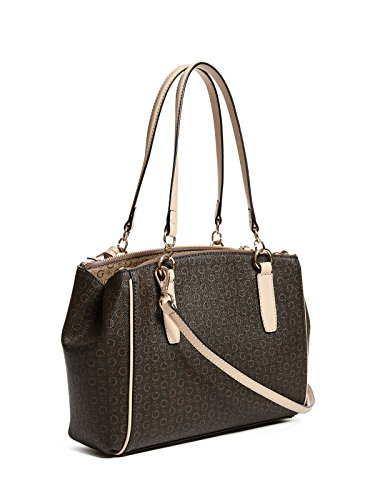 Factory GUESS Multi Women's Satchel Hopwood Logo Brown OwPTx