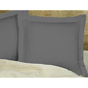 Amazon Com European Square Pillow Shams Set Of 2 Pillowcase Euro