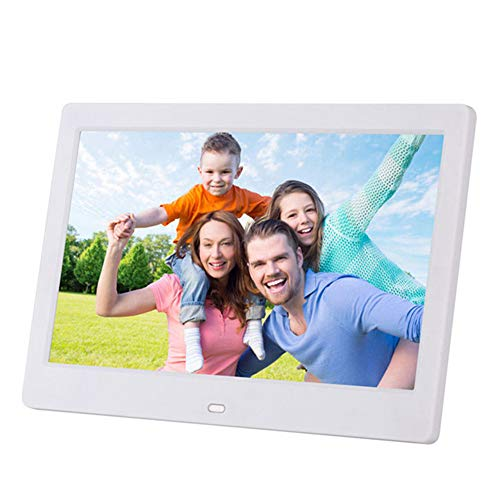 Price comparison product image QLPP 10 inch Digital Photo Frame LED Electronic Screen Photo Frame for Music Mp3 Video Mp4 Business Advertisin with Remote Control, A
